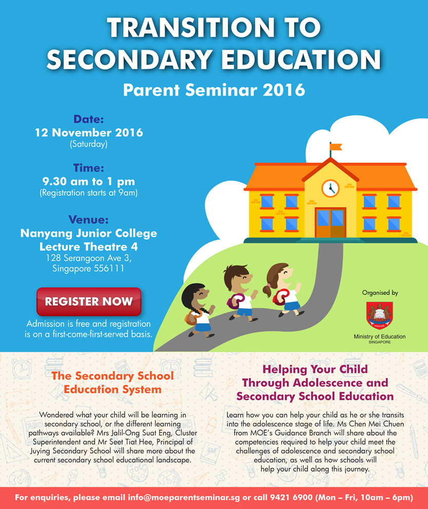 Free Transition Workshop In Concord >> Parent Seminar On Transition To Secondary Education